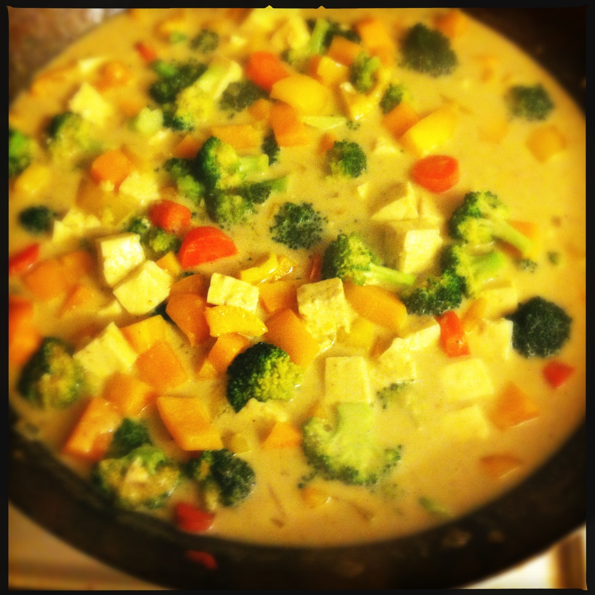 Yellow Curry with Mixed Vegetables and Tofu Stumbling Gracefully